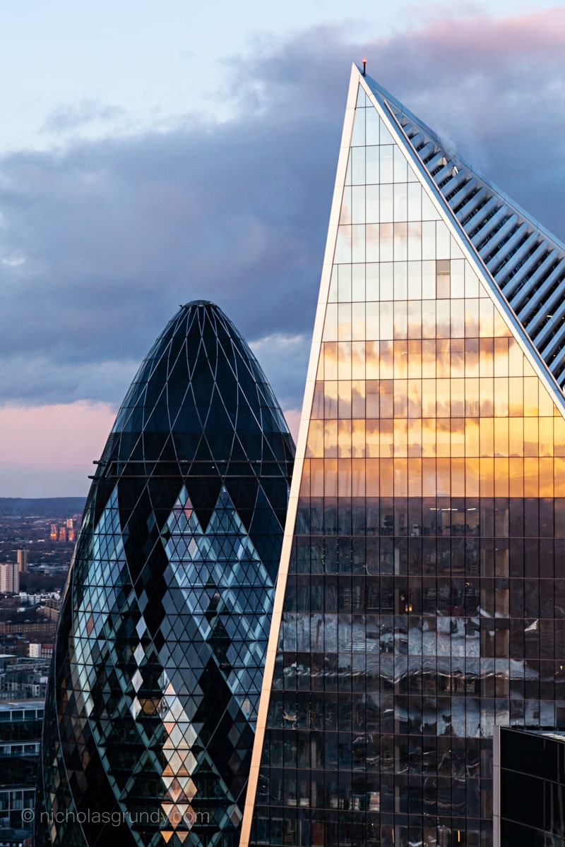 Gherkin and Scalpel London Skyscrapers