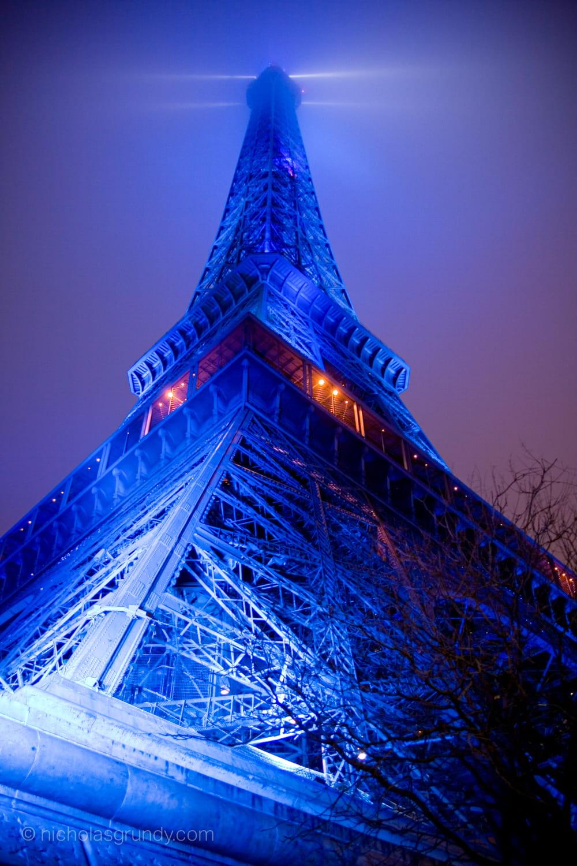 Eiffel Tower Night Photo