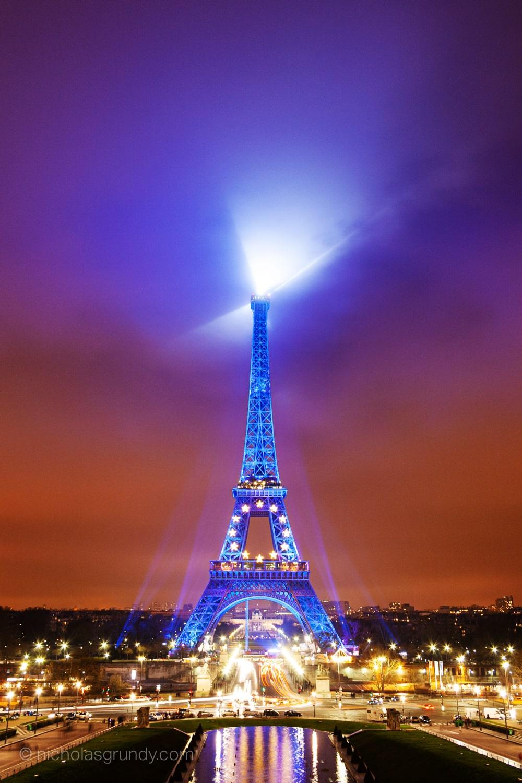 Tour Eiffel Nuit Foto Trocadero