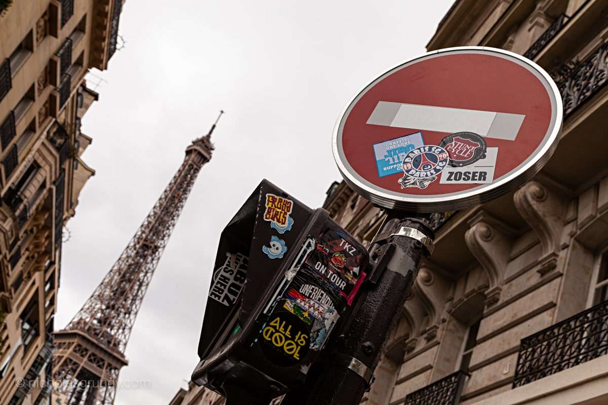Eiffel Tower Side Street Photo