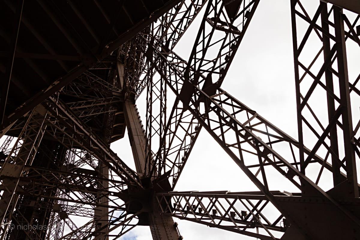 Eiffel Tower Inner Workings Photo