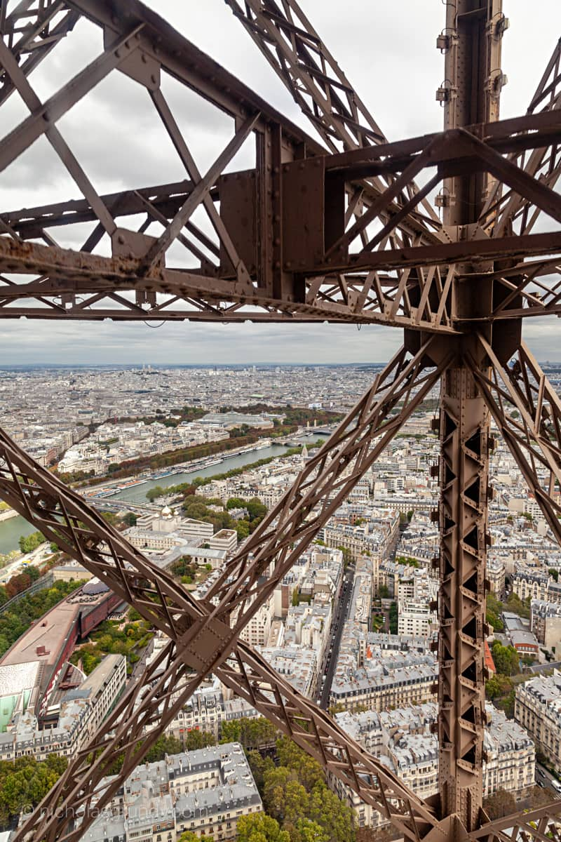 Photo of View from Eiffel Tower Elevator