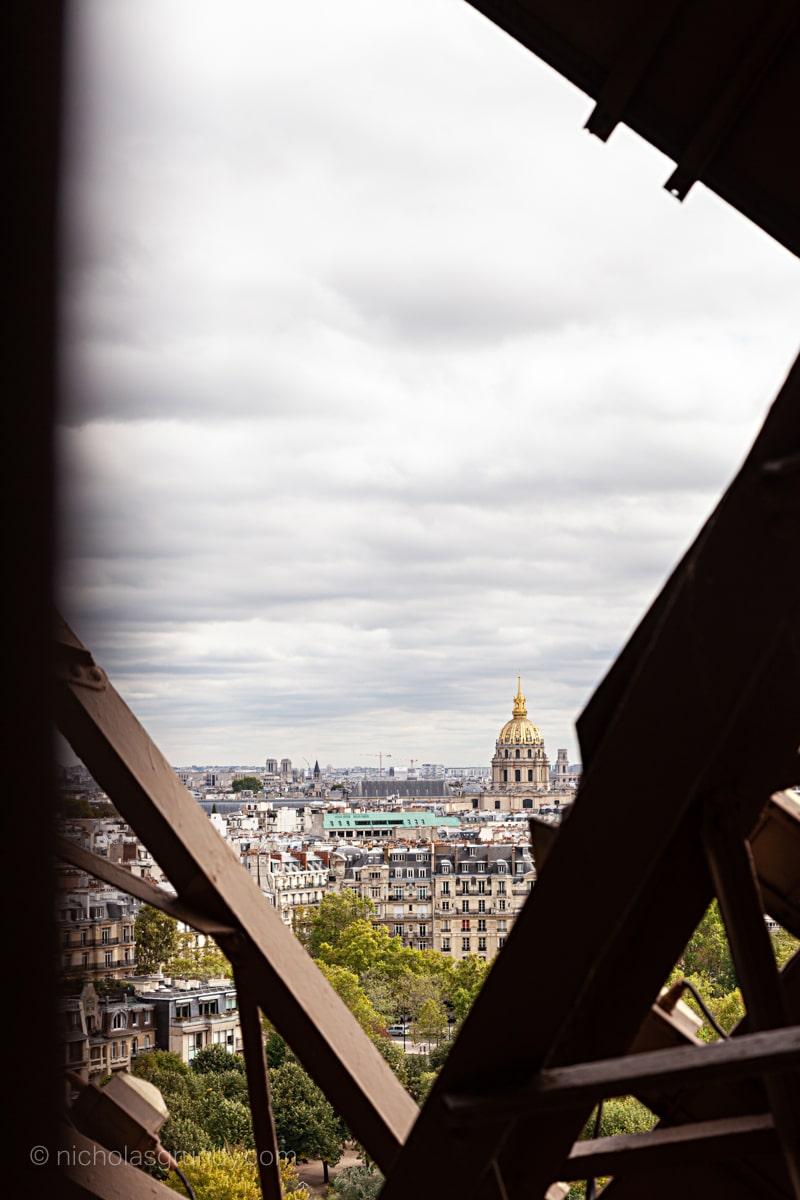 View through the Eiffel Tower Photo