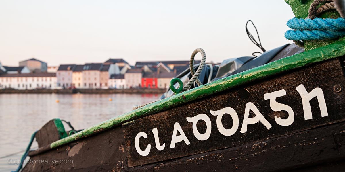 Spanish Arch Claddagh Boat Photo Galway