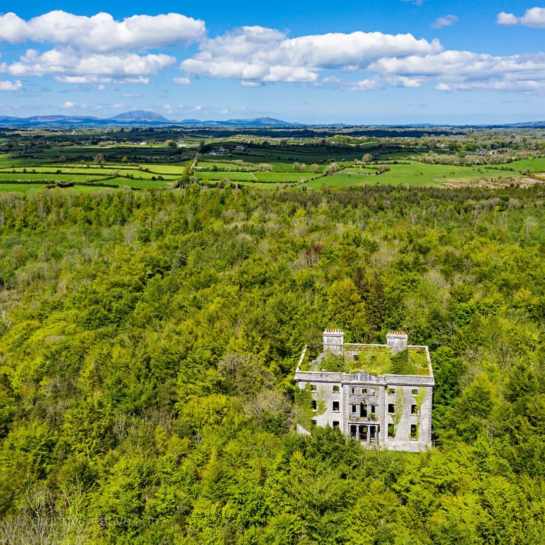 aerial photo moore hall ireland