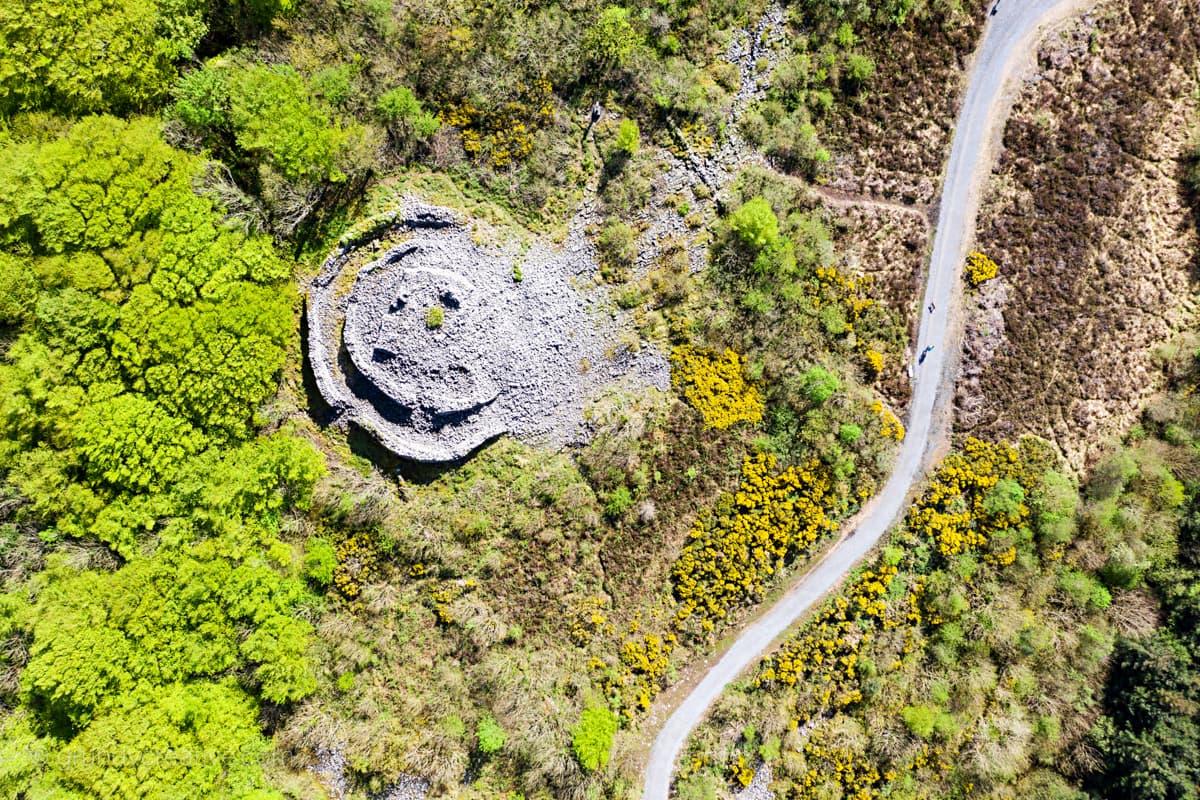aerial video galway Knockma Hill Castlehackett