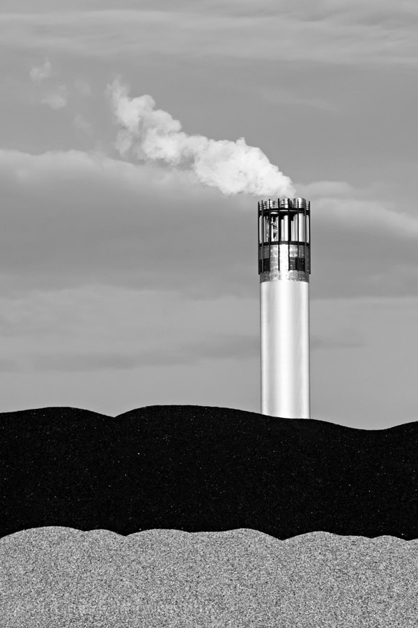Black to White Industrial Photograph