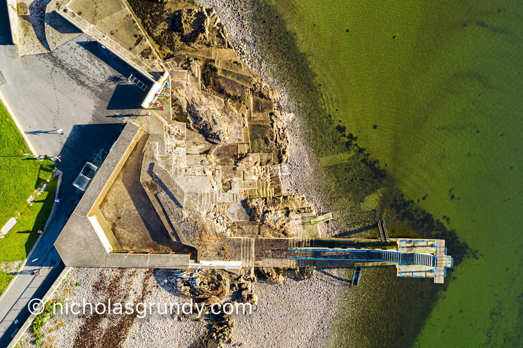Blackdrock Diving Board Drone Photo