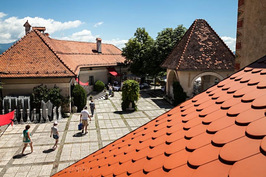 Bled Castle Rooftops