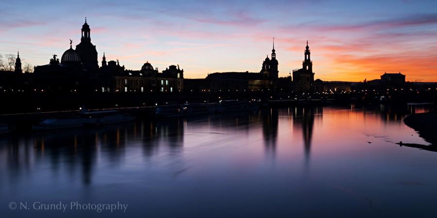 Dresden Sonnenuntergang Foto