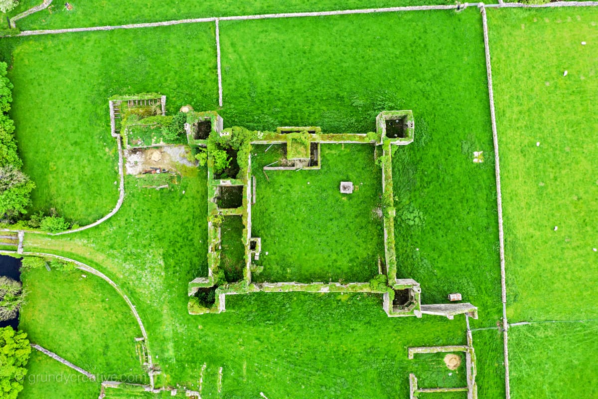Ballinrobe Barracks by drone photographer galway