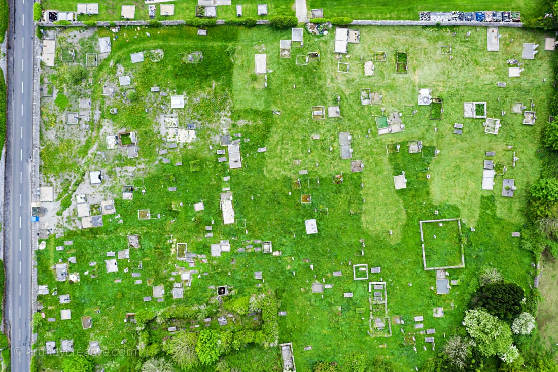 Drone Photo of cemetery by Drone Photography Galway