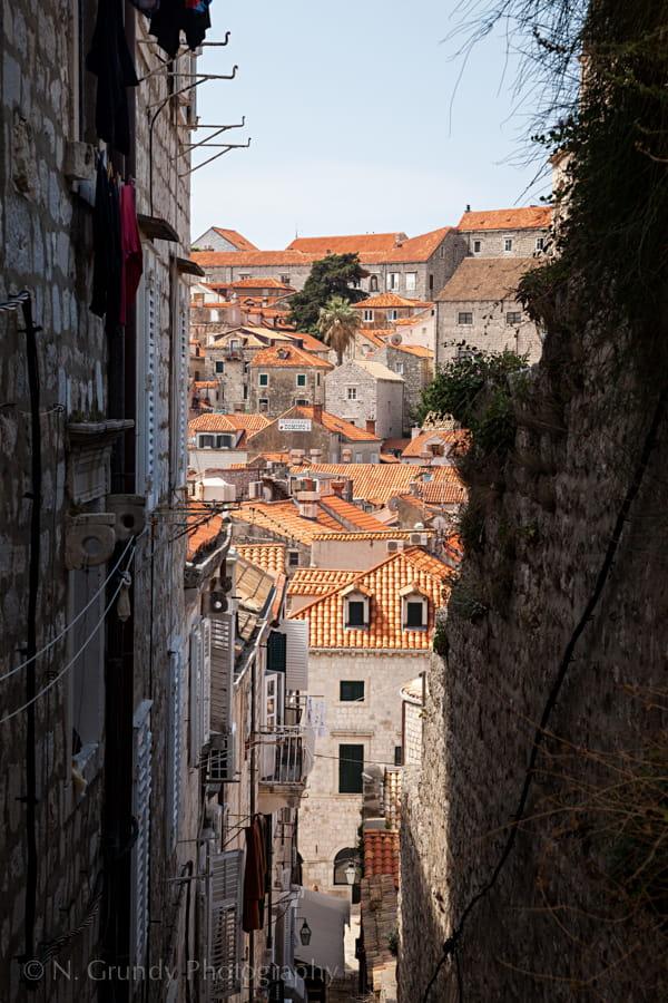 Dubrovnik Steep Laneway