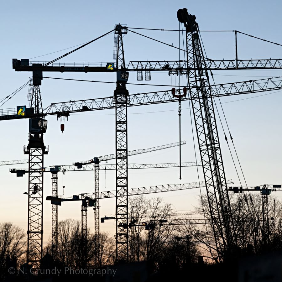 Cranes by Galway Construction Photographer