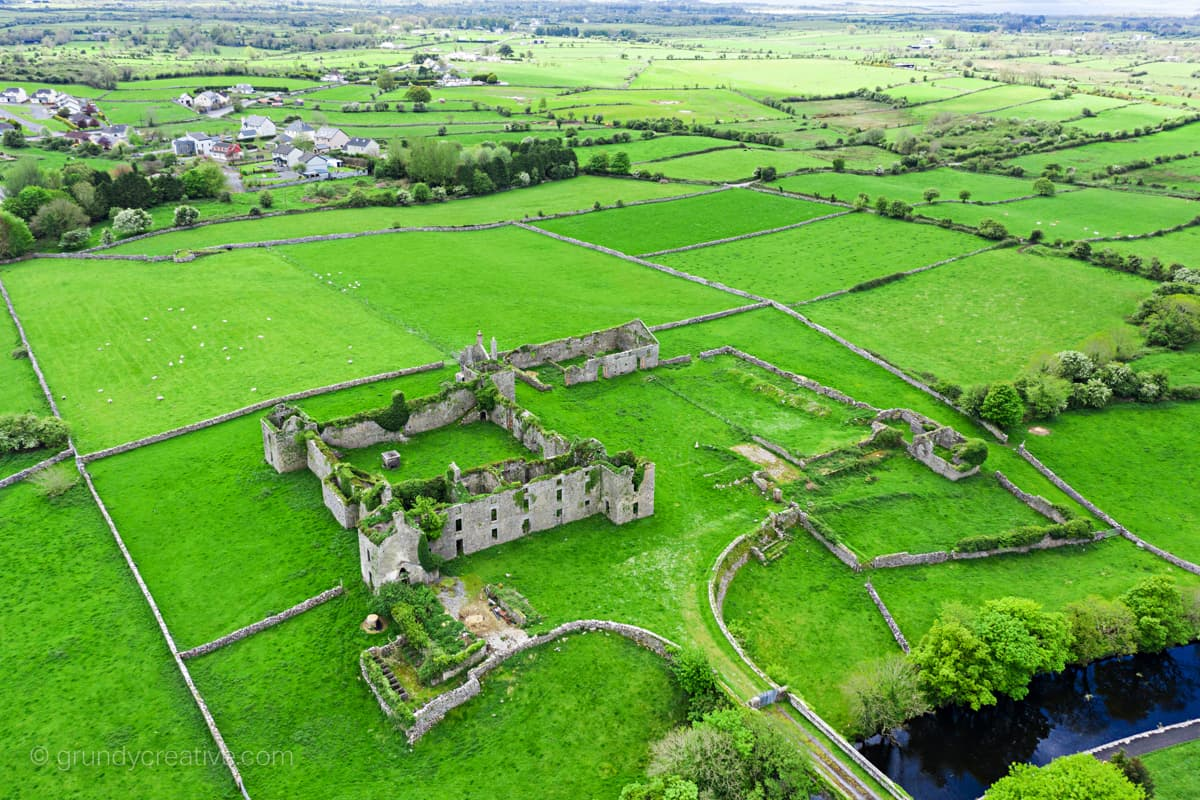Ballinrobe Barracks by galway drone photographer
