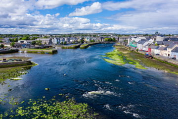 The Claddagh and Long Walk by galway drone photography