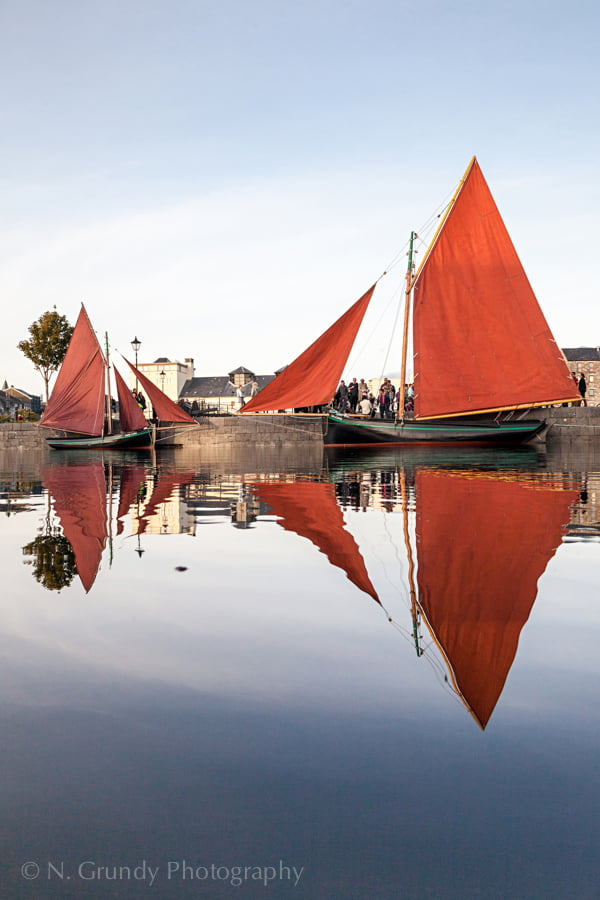 Galway Hooker Reflection Full