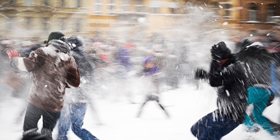 Snowball fight by Galway Photographer