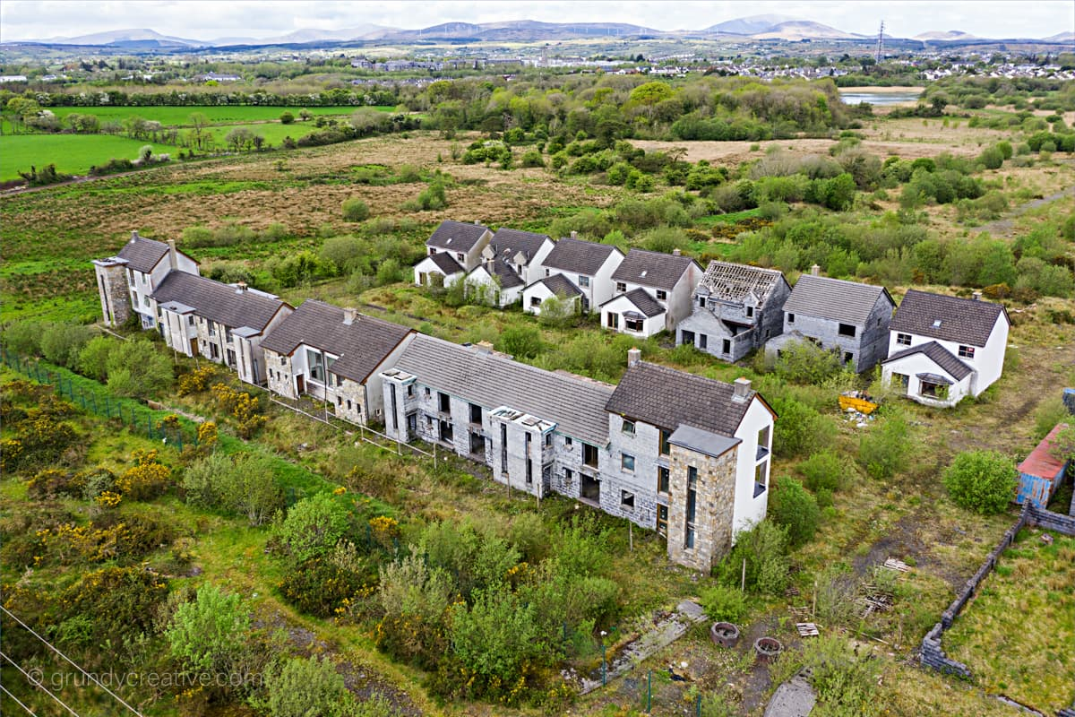 Ghost Estate Aerial Photograph Ireland