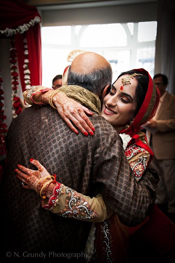 Indian Wedding Bridge and Father