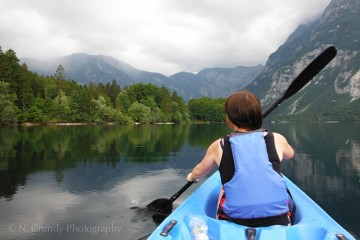 Kayaking Lake Bohinj
