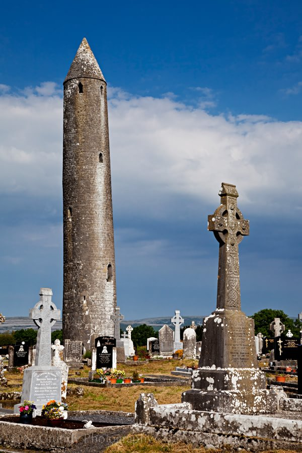 Kilmacduagh Round Tower Photograph Ireland