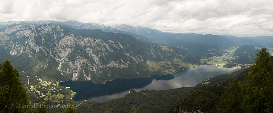 Lake Bohinj Aerial Panorama