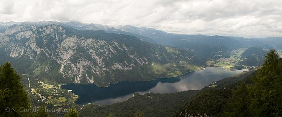 Lake Bohinj Aerial Panorama