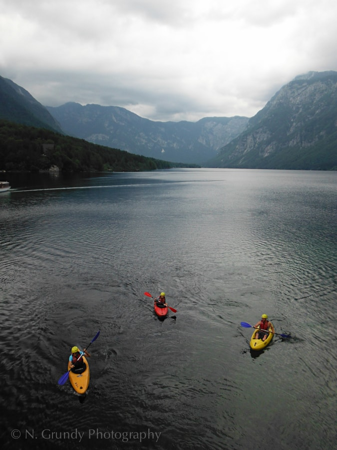 Lake Bohinj Kayakers
