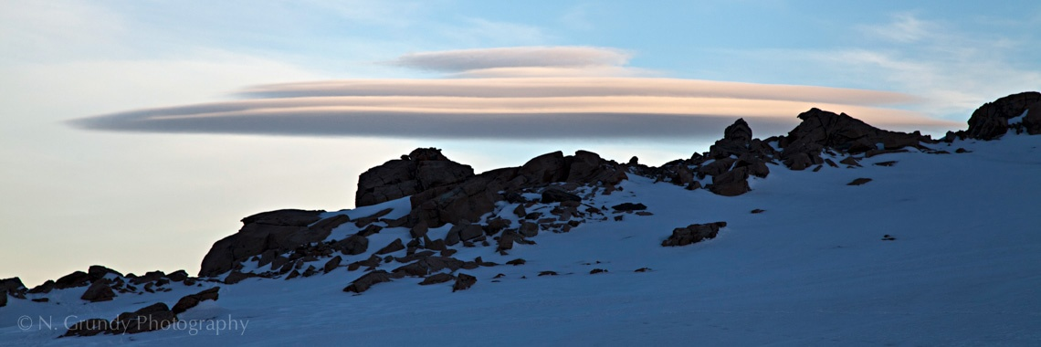 Lenticular Cloud above Mueller Hut