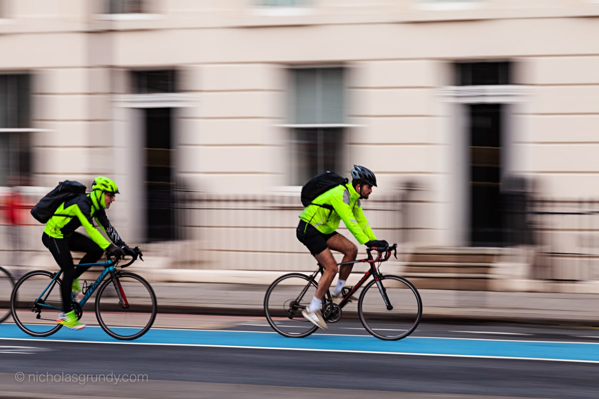 Cyclists Racing in London