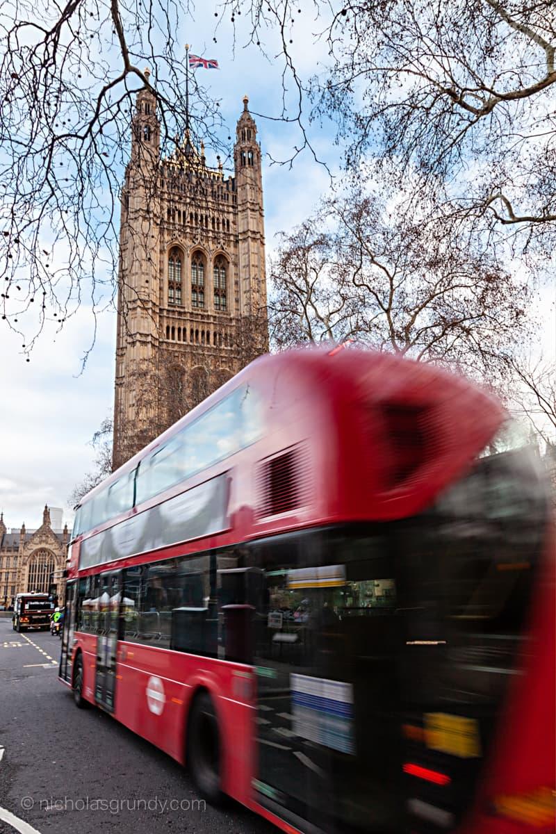 Double Decker Bus Blur Westminster