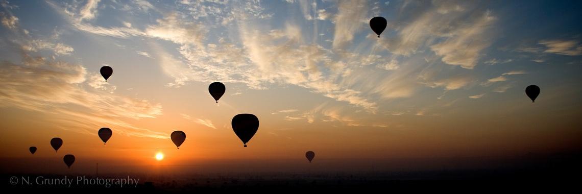 Luxor Sunrise Balloons Photo
