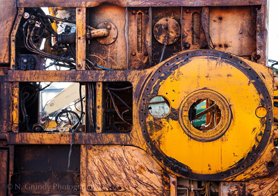 Machinery Graveyard Ireland Photograph