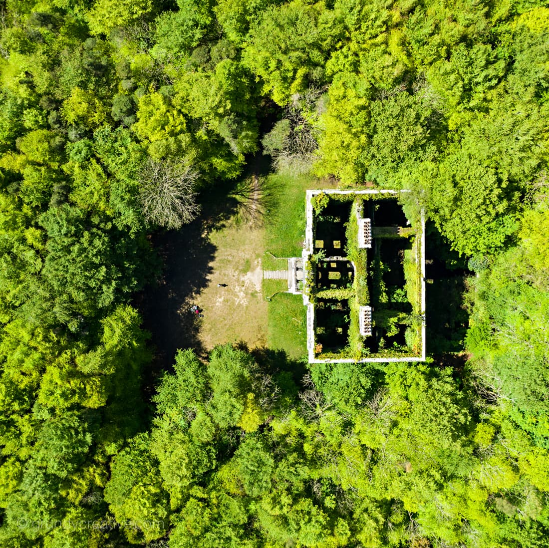 mayo aerial photo moore hall