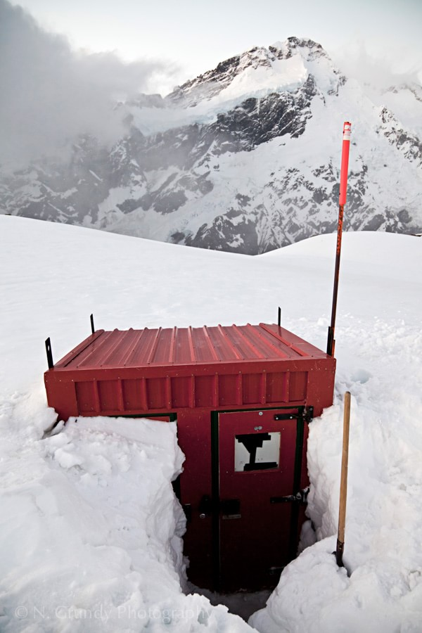 Mueller Hut Snowed-in Outhouse