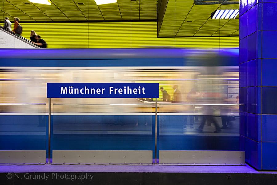 Munich U-Bahn munchner freiheit