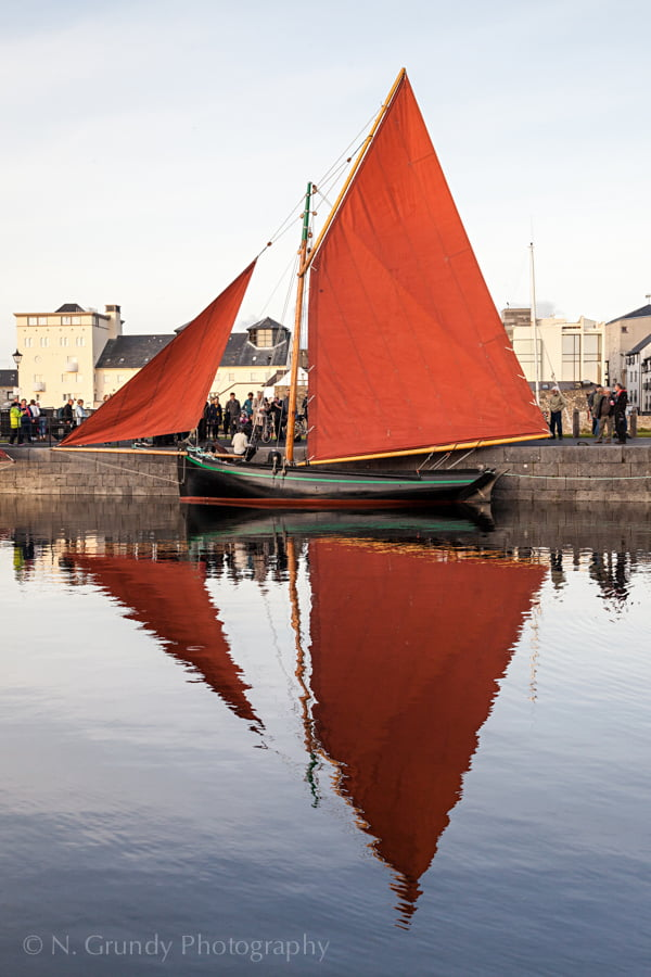 Galway Hooker Boat Reflection Photo