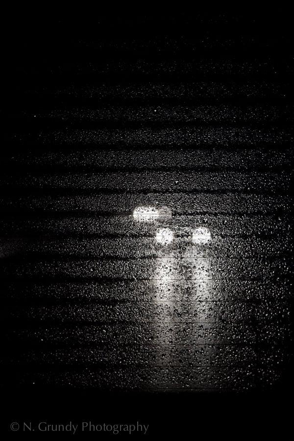 Rainy Motorway Lights by Nicholas Grundy