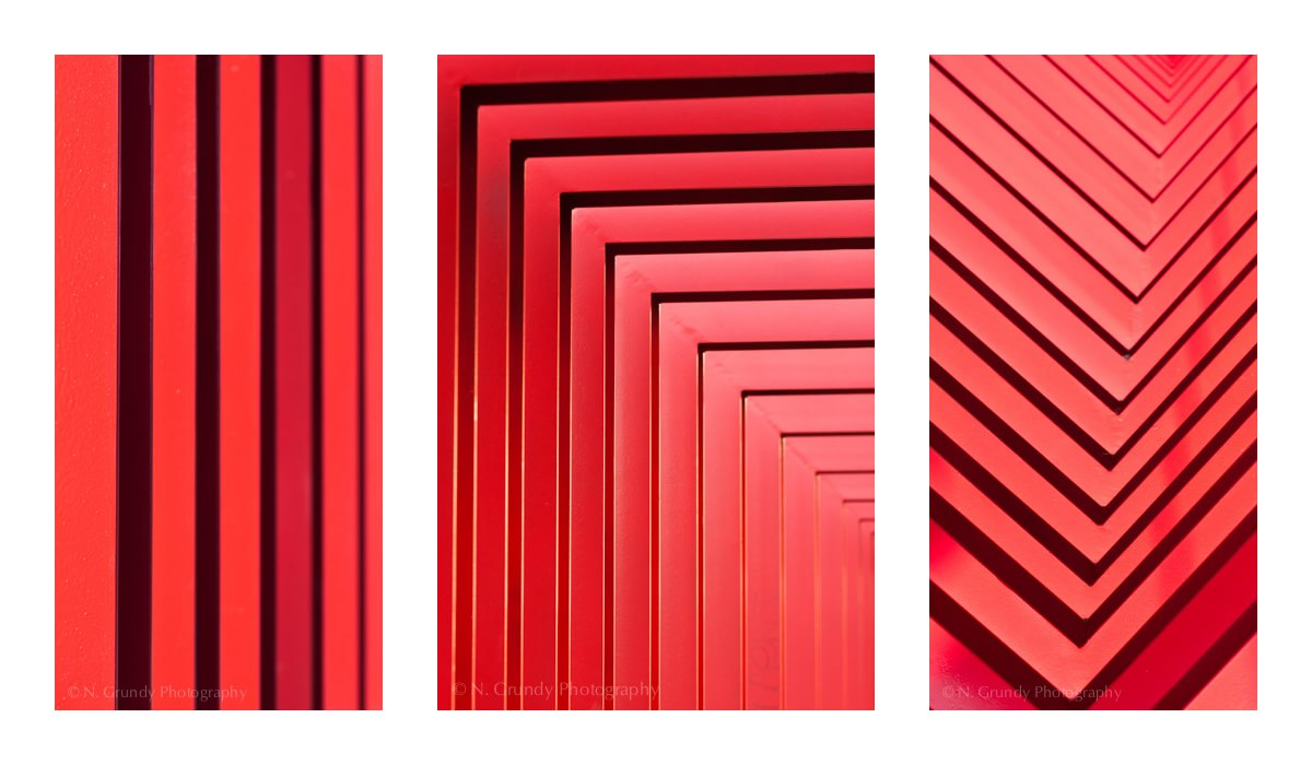 Red Triptych Fine Art Photo by Grundy Photography