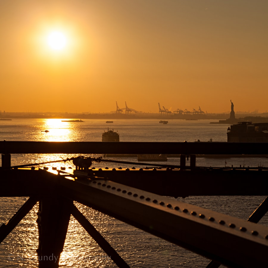 Statue of Liberty Sunset 2