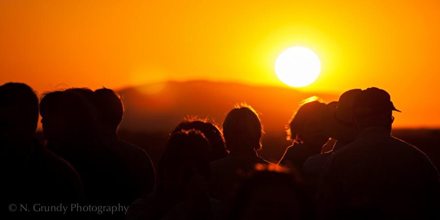 Uluru / Ayer's Rock Sunrise Tourists Photo