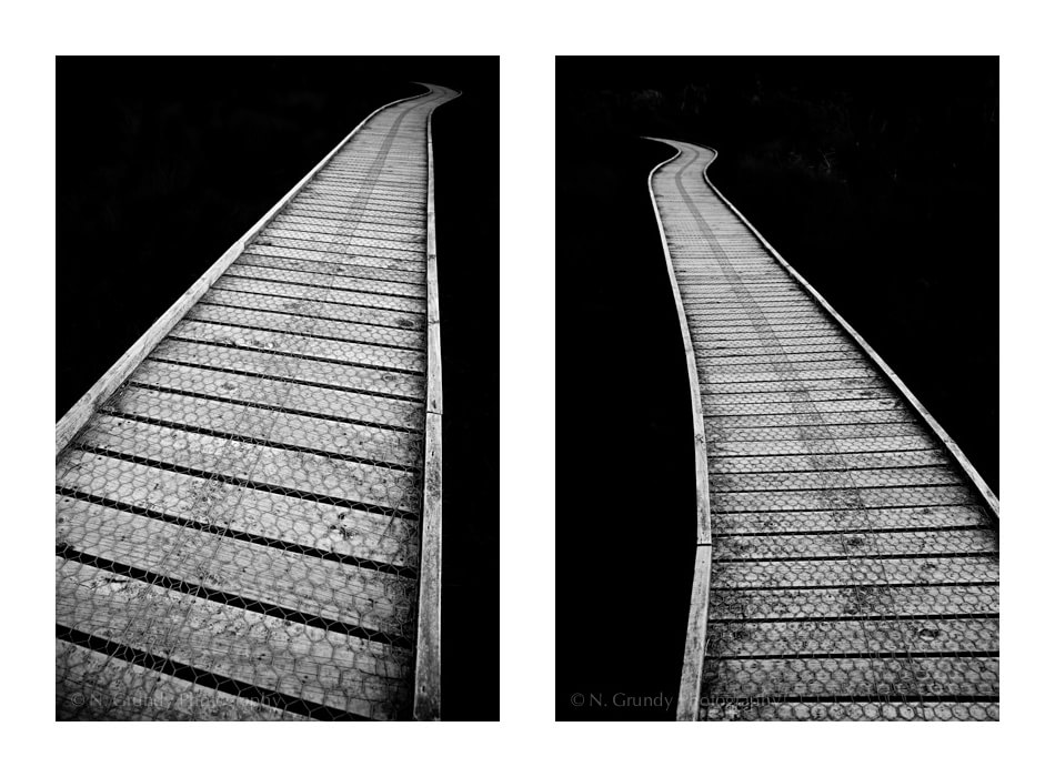 Walkways Fine Art Diptych Photo