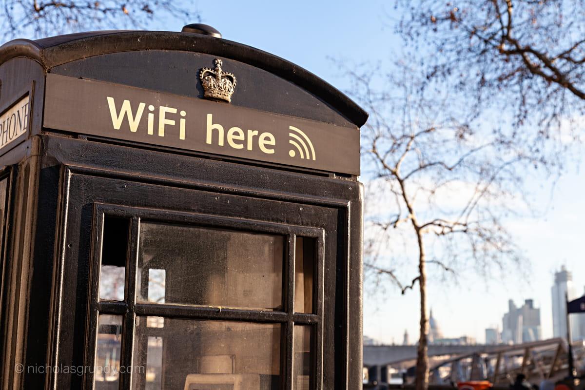 London Wifi Phone Box