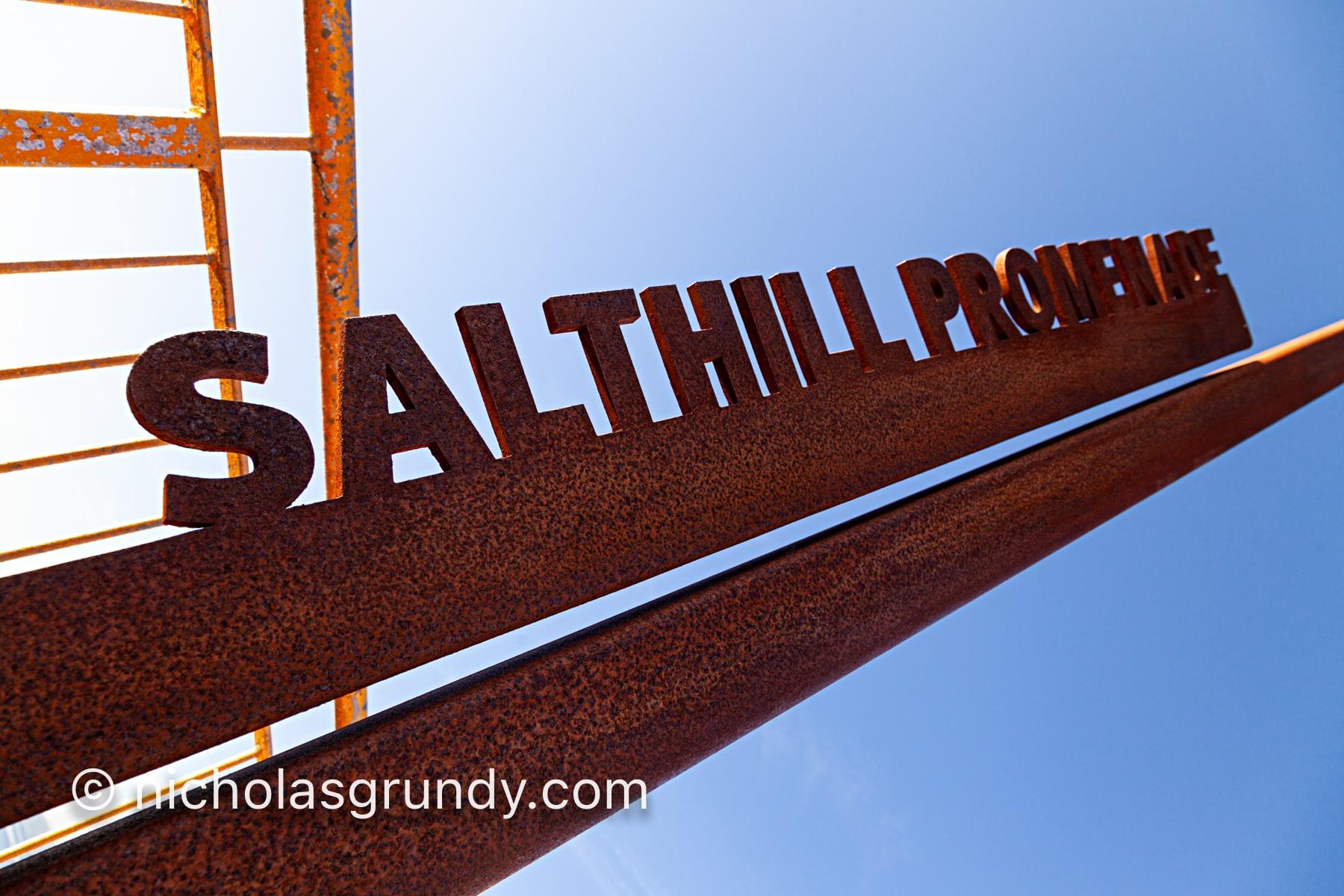 Wild Atlantic Way Salthill Sign